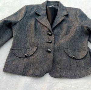 Merona Gray Partial Wool Blazer Lined Jacket  XXL